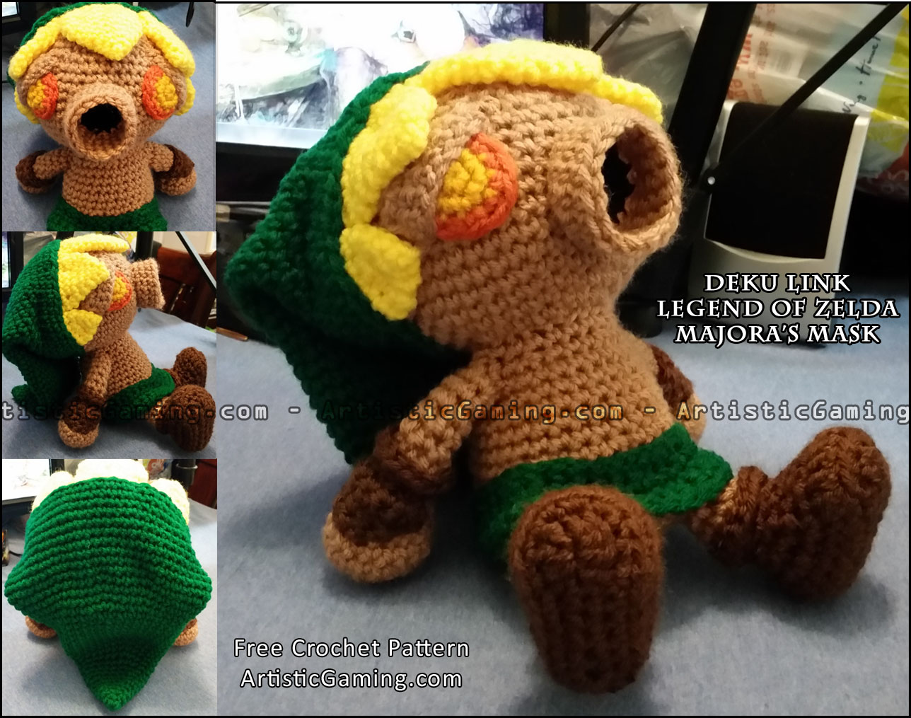 Legend of Zelda Deku Link Free Crochet Pattern ? ArtisticGaming